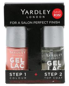 Yardley Gel Lac Nails Duo and Topcoat Pardis Peach