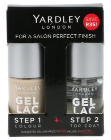 Yardley Gel Lac Nails Duo and Topcoat Noth Bt Nude