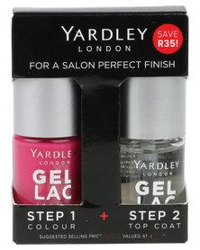 Yardley Gel Lac Nails Duo and Topcoat Fuschia