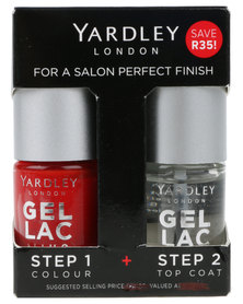 Yardley Gel Lac Nails Duo and Topcoat Perfect Red