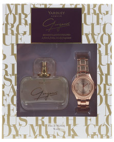 Yardley Gorgeous 50ml EDP and Watch Set