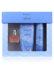 Yardley Lace 15ml EDT And 90ml Perfume Body Spray And 250ml Body Lotion Set