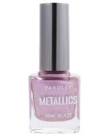 Yardley Metallic Nail Polish Pink Glitz