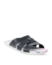 YI MAI DA Python Effect Sandals Black