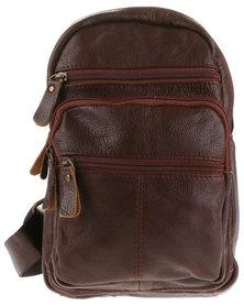 YOYO Multi Pocket Sling Bag Tan