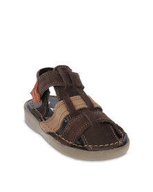 Zillycat Fisherman Nubuck Sandals Dark Brown