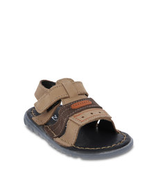 Zillycat Two-Tone Velcro Sandals Brown