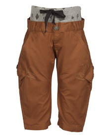 Zillycat Pull-on Pants with Grey Waist Rib Orange
