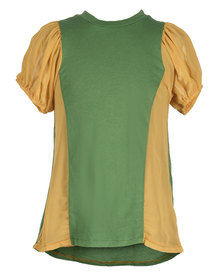 Zillycat Two-Tone Dress Green Yellow