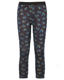 Zillycat Girls Printed Pull-On Pants Blue