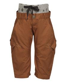 Zillycat Pull-on Pants with Grey Waist Rib Orange