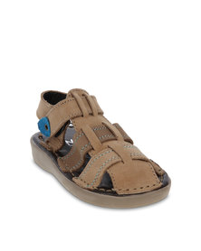 Zillycat Fisherman Nubuck Sandals Sand Brown
