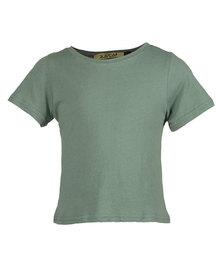 Zillycat Bow Detail T-Shirt Green
