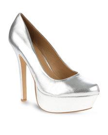 Zoom Salie Platform Heels Silver