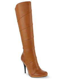 Zoom Sexy High Heeled Boots Camel