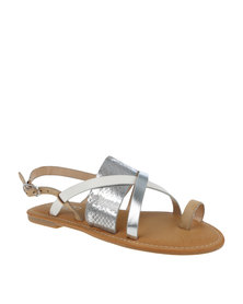 ZOOM Kate Toe Strap Sandal Silver Multi
