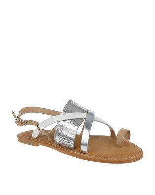 ZOOM Kate Toe Strap Sandal Silver Multi