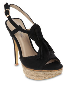 Zoom Dannie Platform Sandals Black