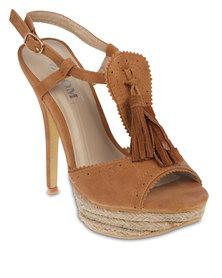 Zoom Dannie Platform Sandals Camel