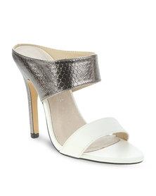 Zoom Shantel Slip-On Sandals Pewter/White