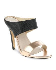 Zoom Shantel Slip-On Sandals Black/Gold