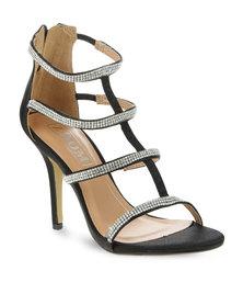 Zoom Asra Diamante Strappy Heels Black