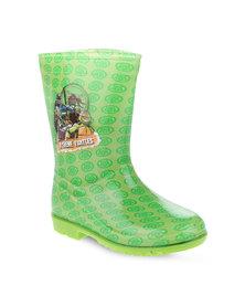 Zoom Ninja Turtles Rain Boots Green