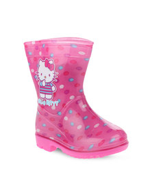 Zoom Hello Kitty Rain Boots Pink
