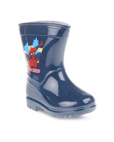 Zoom Spiderman Rain Boots Navy
