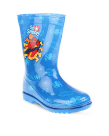 Zoom Spiderman Rain Boots Blue