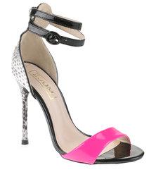 ZOOM Exclusive Rivah Heeled Sandals Black/Pink