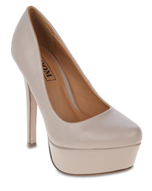 Zoom Salie Heeled Platforms Nude