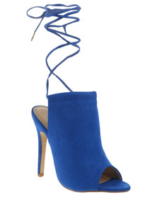 ZOOM Exclusive Tayla Ankle Tie Heels Blue