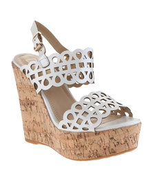 Zoom Mista Wedge Heels White