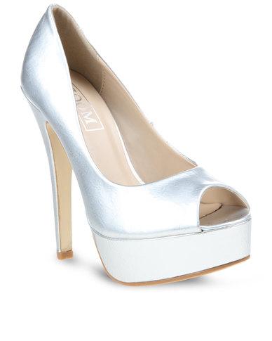 Matte Silver Heels