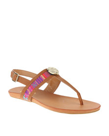 Zoom Lira Slingback Sandals Natural