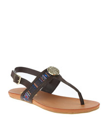Zoom Lira Slingback Sandals Brown