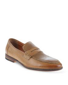 Zoom Darren Leather Slip-On Shoes Tan