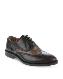 Zoom Gilby Leather Lace-Up Shoes Brown