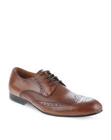 Zoom Kurt Leather Lace-Up Shoes Cognac