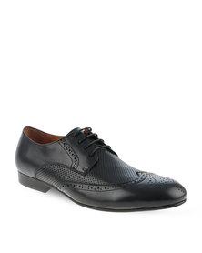 Zoom Kurt Leather Lace-Up Shoes Black