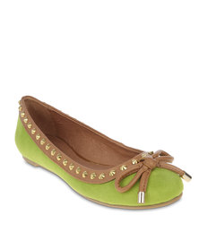 Zoom Annette Flats Green