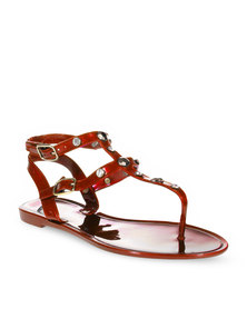 Zoom Lizzy Flat Sandals Red