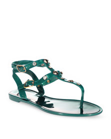 Zoom Lizzy Flat Sandals Green