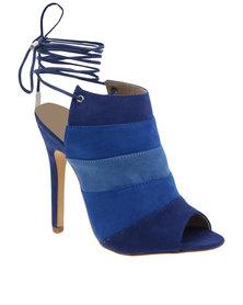 ZOOM Carrie Ankle Tie Heel Blue