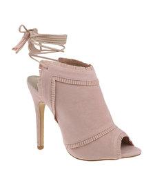 ZOOM Exclusive Patricia Ankle Tie Heel Blush