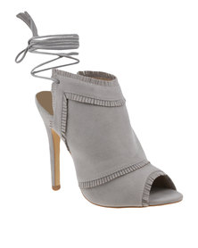 ZOOM Patricia Ankle Tie Heel Light Grey