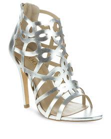 Zoom Kitty Heels Silver