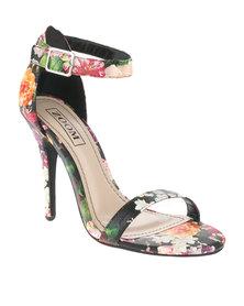Zoom Dolce Floral Heels Black