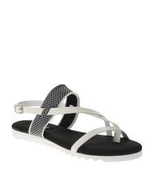 Zoom Lucia Flat Sandals White